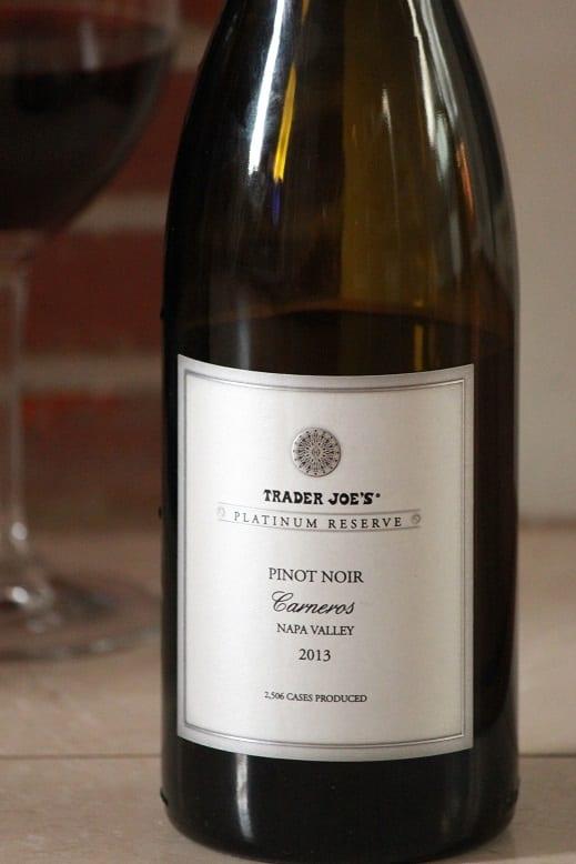 Trader Joe's Platinum Reserve 2013 Carneros Pinot Noir
